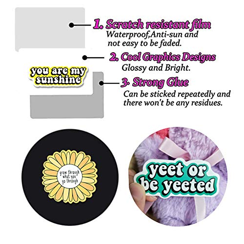 100PCS Inspirational Stickers for Water Bottles, Positive Vinyl Quote Stickers for Planner, Laptop, Funny Motivational Stickers for Adults, Girls, Women, Teachers, Students, Waterproof Sticker Pack