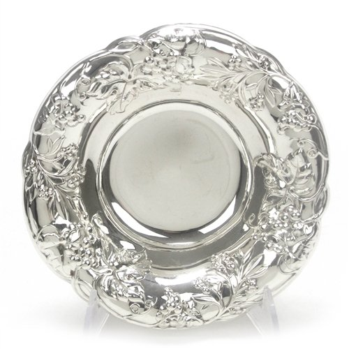 Bonbon Dish by Pilgrim Silver Plate, Silverplate, Grapes (Silverplate Bon Bon Dish)