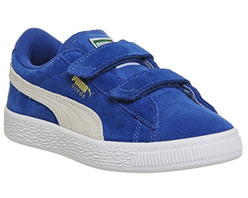 Puma Unisex-Kinder Suede 2 Straps PS Low-Top Snorkel Blue White