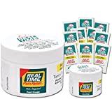 Real Time Pain Relief Foot Cream, Convenience Pack, 8 Ounce Jar, 1.4 Ounce Jar, 10 Pain Cream Travel Packs