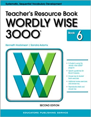Wordly Wise 3000 Teacher S Resource Book Book 6 Kenneth