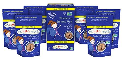 MySuperSnack Soft Granola Bites, Blueberry Banana Acai, 1.41 Ounce (Pack of 6)