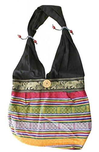 multicolor algodón para Bolso mujer Kalra multicolor Creations cruzados de HqwH8FI
