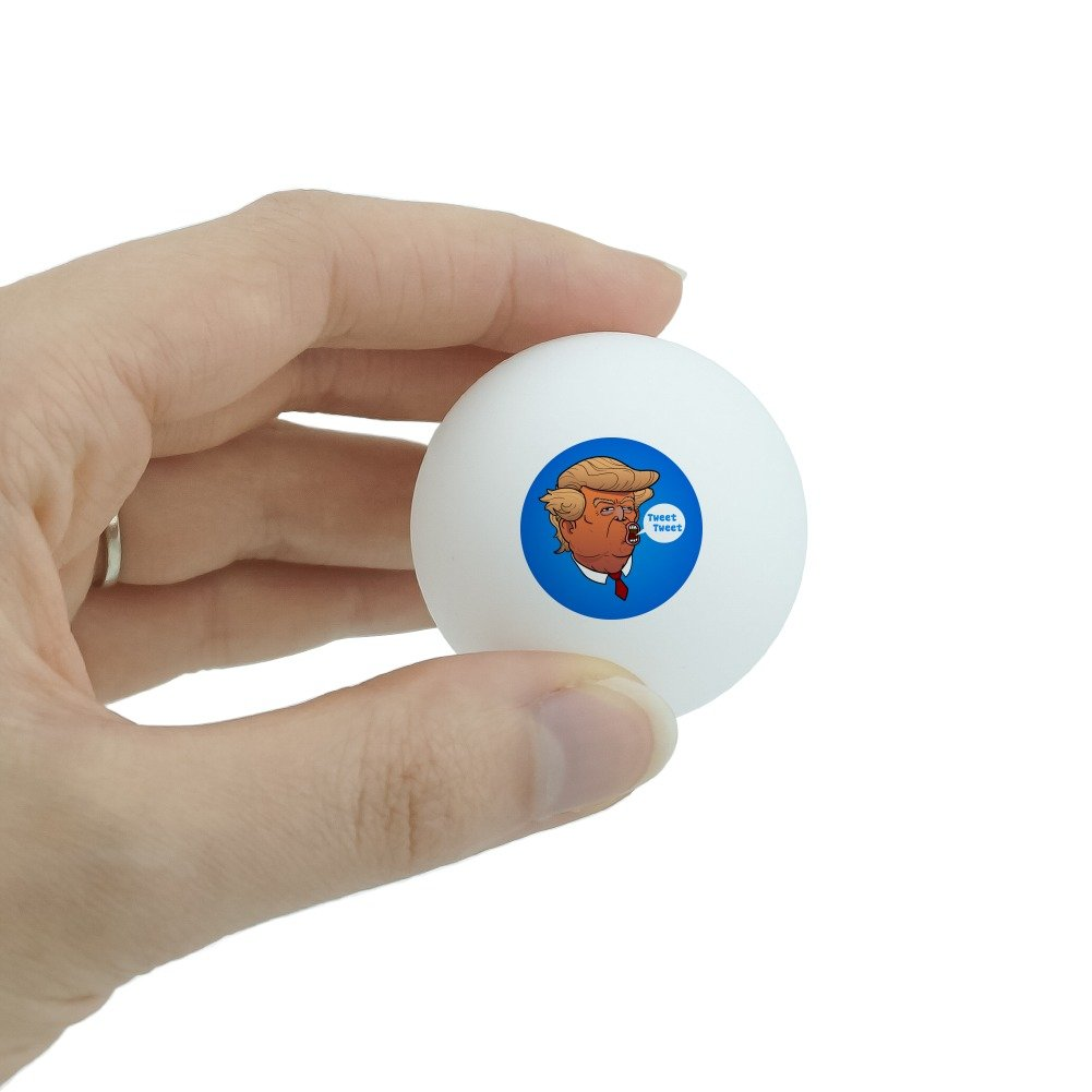 GRAPHICS /& MORE Funny Donald Trump Face Tweet Tweet Novelty Table Tennis Ping Pong Ball 3 Pack