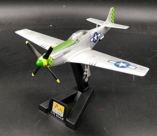 2 P51 mustang 55FG fighter plane non diecast Airplane collection Easy Model Pre-builded ()
