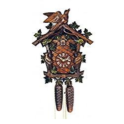 Cuckoo Clock - 8-Day Traditional with Birds & Berries - Schneider