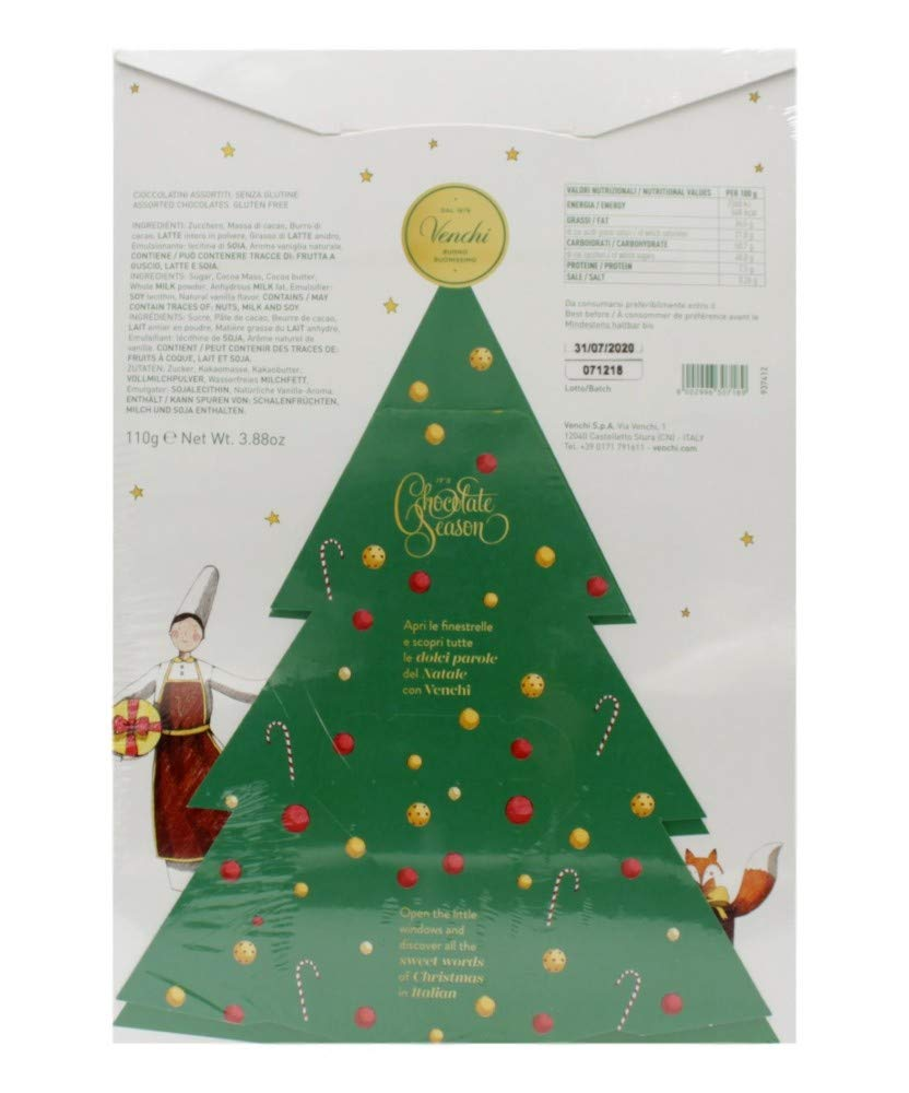 Kinder Calendario Avvento 2020.Venchi Calendario Dell Avvento 110 Gr Amazon It Alimentari