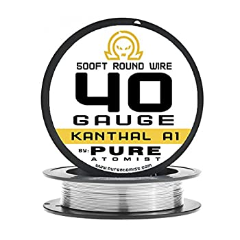 40g - PURE ATOMIST 40 Gauge kanthal A1 Resistance Wire - 250' & 500' Lengths (500)
