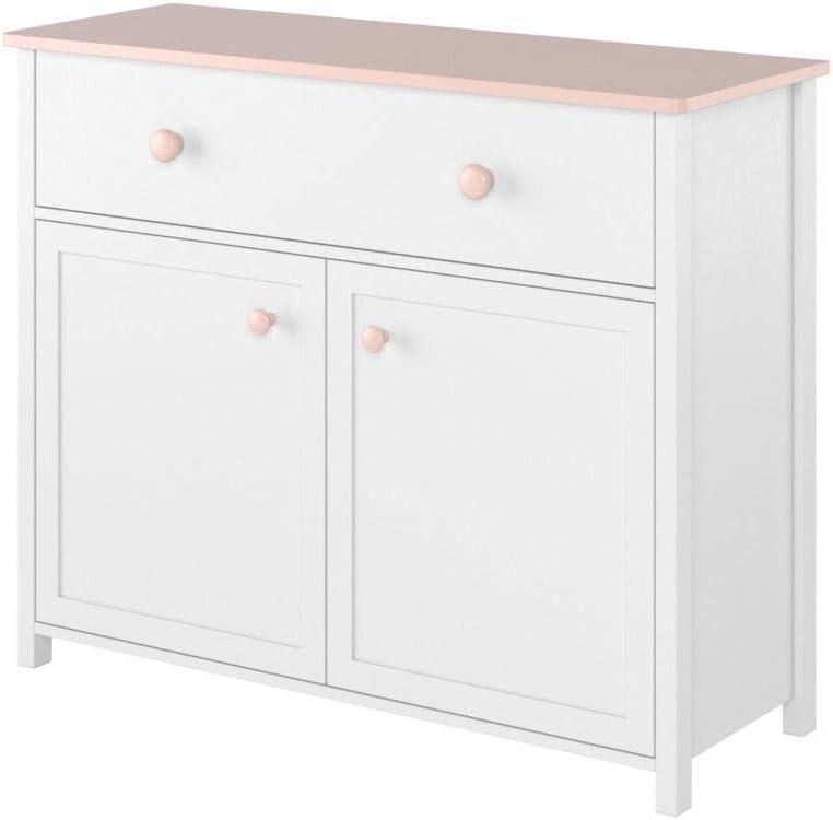 FidgetGear Sailor 05 - Cómoda con cajón, color blanco y rosa: Amazon.es: Hogar