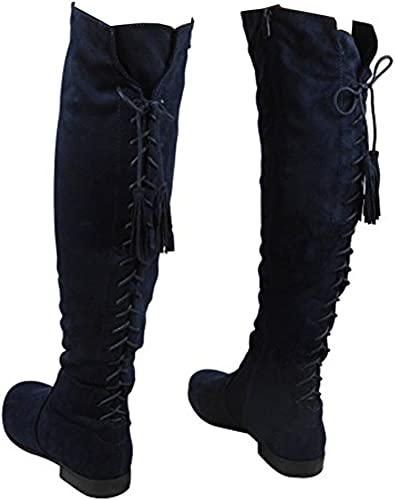 Womens Over The Knee High Flat Ladies