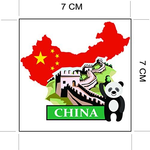 China National Flag and Map Sticker for customization of favorite items such as suitcases sticker mania SG/_B06XK5KP78/_US