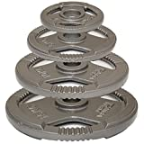 MiraFit Tri Grip 2' Olympic Cast Iron Weight Plates - Choice of Size - 2 x 10kg