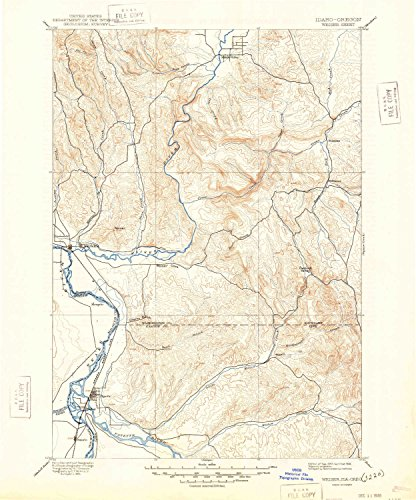 YellowMaps Weiser ID topo map, 1:125000 scale, 30 X 30 Minute, Historical, 1897, updated 1948, 20.4 x 17 IN - Tyvek