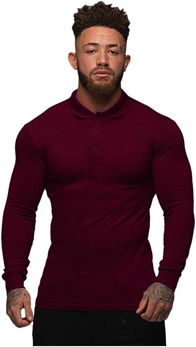 Jersey de Manga Larga para Hombre con Cuello grandado ...