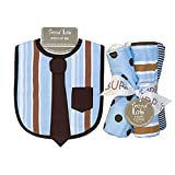 Dress Up Necktie Bib And Burp Cloth Set - Max