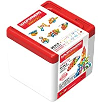 MAGFORMERS 701014 Basic 90Pc Set Building Kits, Rainbow