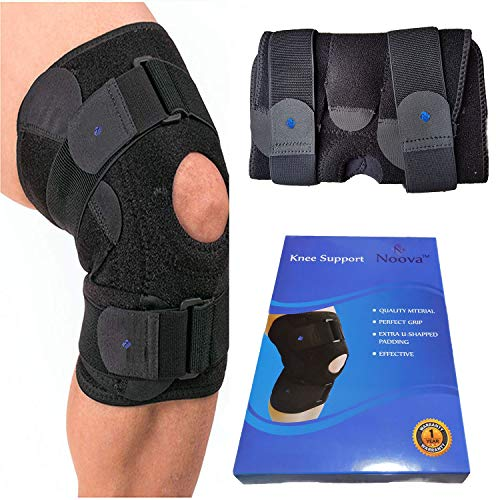- Noova Knee Brace For Meniscus Tear - Best Braces For Patella Support For Men & Women Open Patellar Tendon Strap For Stabilizing & Reducing Pain Due To Arthritis Running Gym Workout Crossfit or Sports