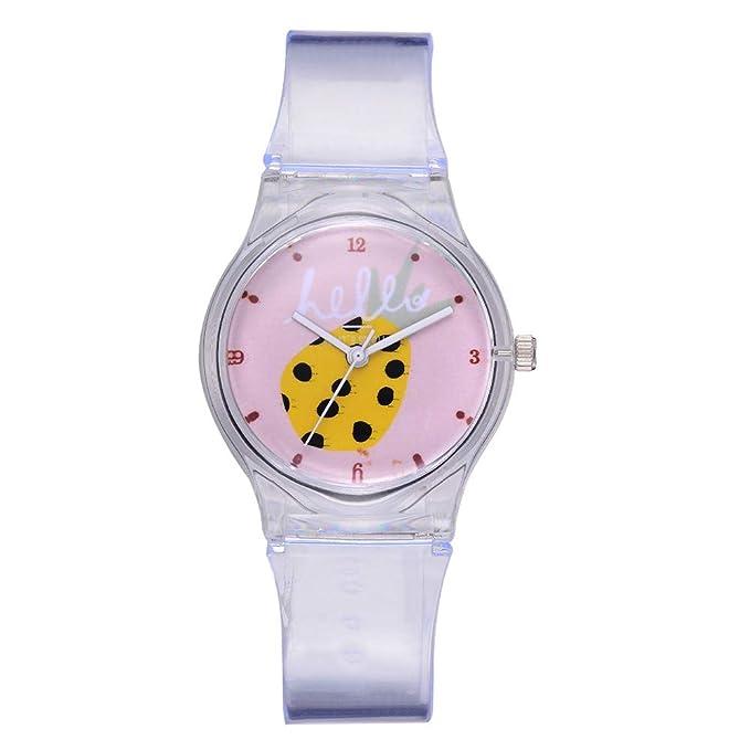 BIBOKAOKE Moda Mujer Relojes Casual Señoras Patrón de Frutas Reloj de Pulsera de Silicona Correa Baratos Watch No Impermeable: Amazon.es: Ropa y accesorios
