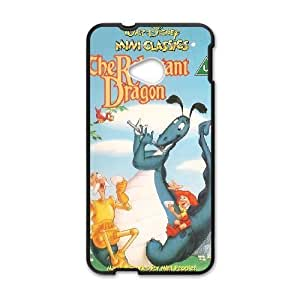 HTC One M7 phone case Black Reluctant Dragon QWE7506511