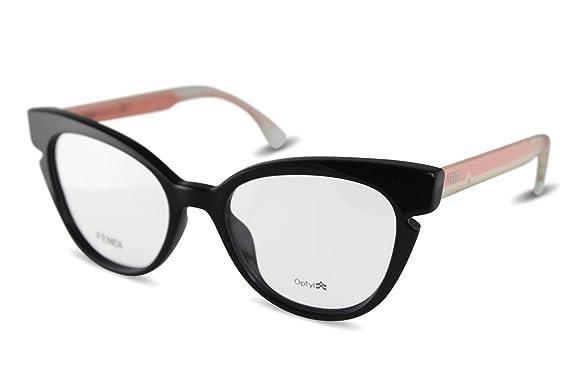 Fendi - Fendi Lines Ff 0134, Schmetterling, Optyl, Damenbrillen, Black Crystal Pink(n7a), 50/18/140