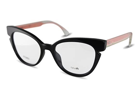 7d708c075fc Image Unavailable. Image not available for. Color  FENDI Eyeglasses 0134  0N7A Black Crystal 50MM