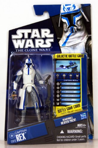 Star Wars 2010 Clone Wars Animated Action Figure CW No. 12 Rex in Cold Weathe... -