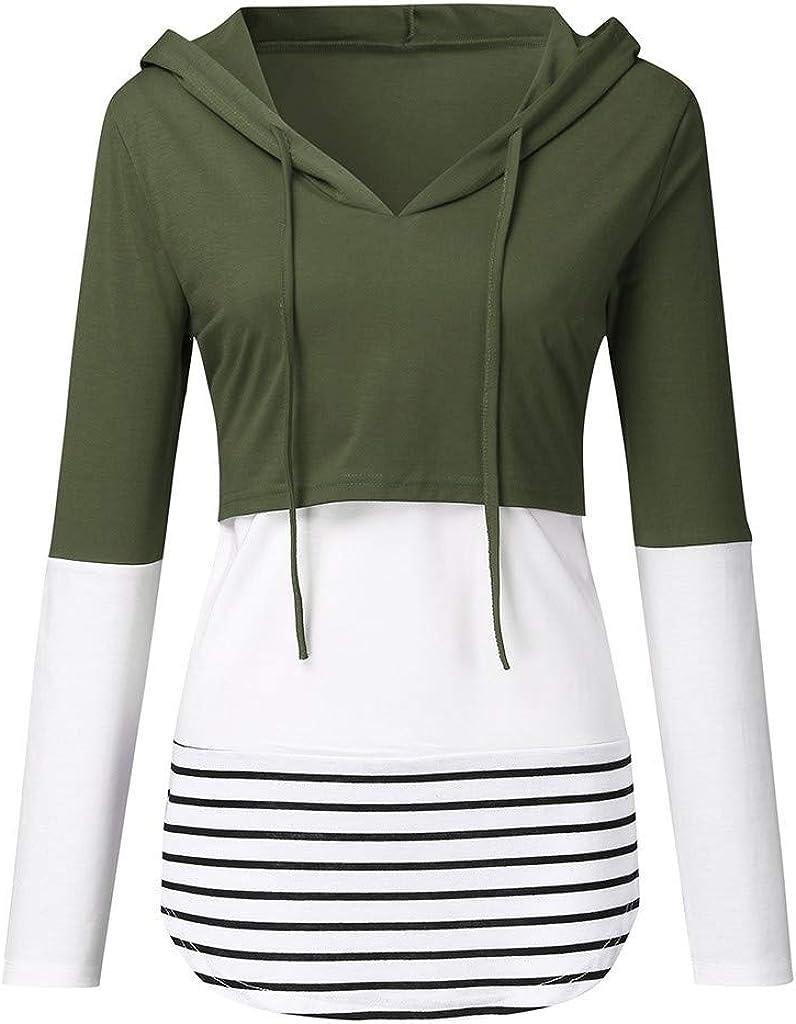 Womens Nursing Sweatshirt Hoodie Zip up Pullover Breastfeeding Casual Clothes