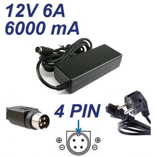 Cargador Corriente 12V 6A 4 Pin Reemplazo TPV Partner Tech PT-5500 POS Terminal Recambio Replacement