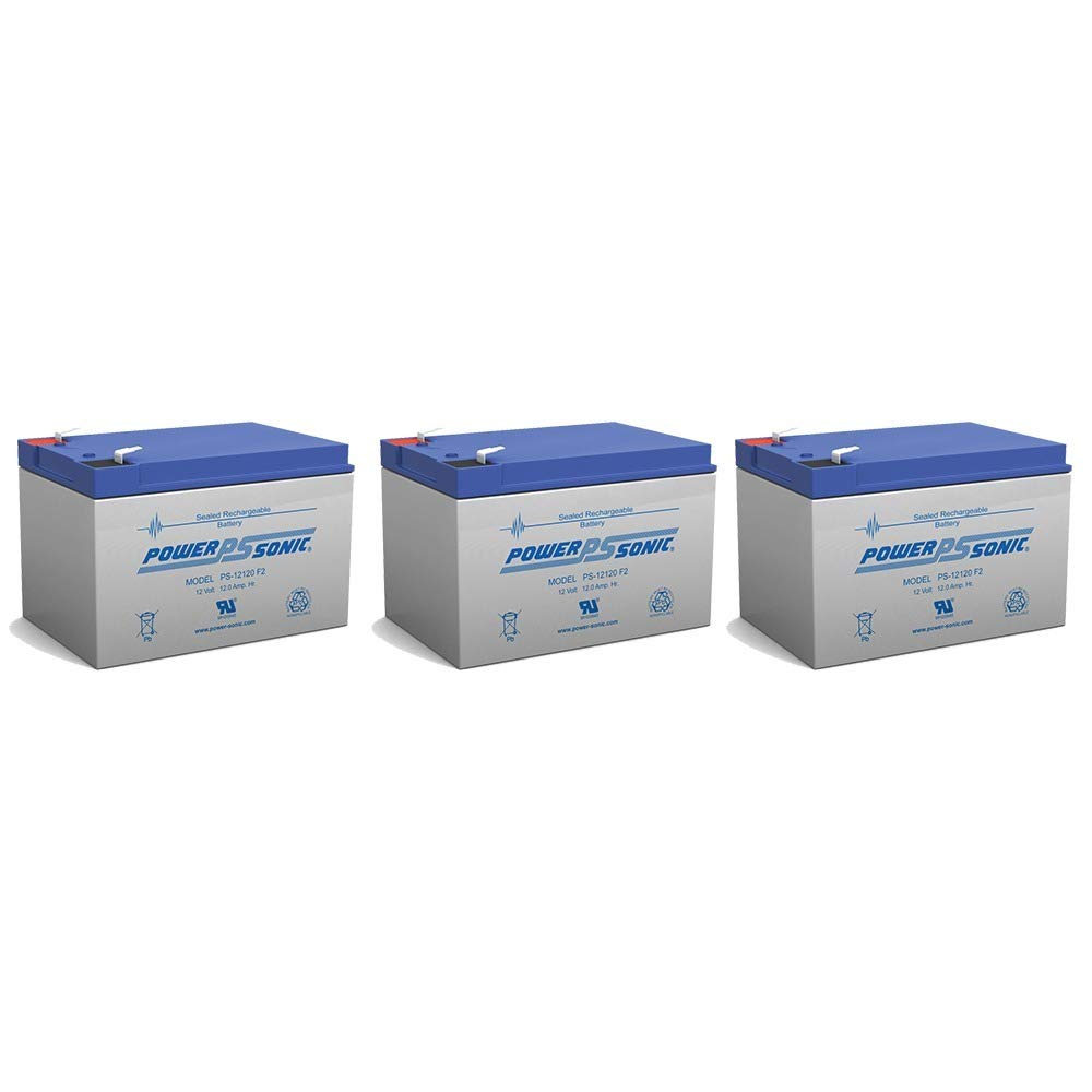 Powersonic 12V 12AH Replaces Mega Motion Travel Pal 3-Wheel MM111B - 3 Pack