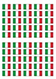 50 Italian Flag Edible PREMIUM THICKNESS SWEETENED VANILLA, Wafer Rice Paper Cupcake Toppers/Decorations