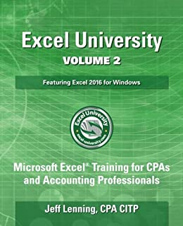 Buy Excel University: Microsoft Excel Training for Cpas and ...