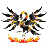 """Phoenix Stencil - (size 16""""w x 13""""h) Reusable Wall Stencils for Painting - Best Quality Dragon Wall Art Decor Ideas - Use on Walls, Floors, Fabrics, Glass, Wood, Terracotta, and More…"""
