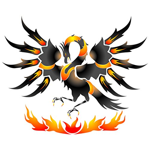 Phoenix Stencil - (size 8.5