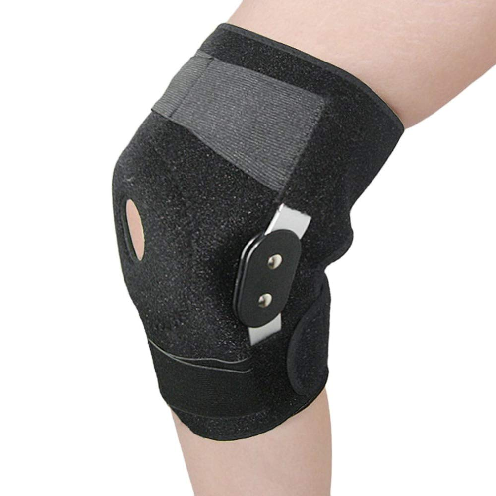 A 2PCS Knee Brace Support,Adjustable Double Metal,Predection Arthritis Sports Injury Open Patella Gym Basketball Running Jogging Football Cycling
