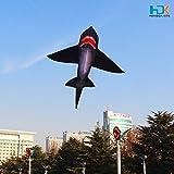 HENGDA KITE for Kids Lifelike Black Shark Kite