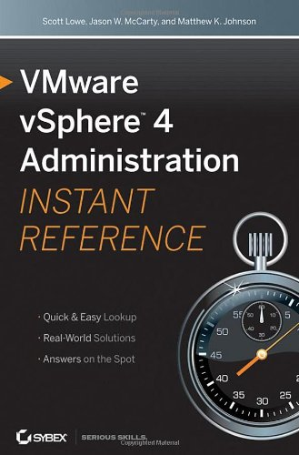 [PDF] VMware vSphere 4 Administration Instant Reference Free Download | Publisher : Sybex | Category : Computers & Internet | ISBN 10 : 0470520728 | ISBN 13 : 9780470520727