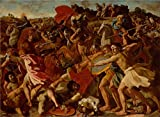 Oil Painting 'Poussin, Nicolas_1624-1625_The Victory Of Joshua Over The Amalekites' 16 x 22 inch / 41 x 56 cm , on High Definition HD canvas prints, gifts for Bath Room, Bed Room And Kitchen decor