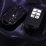 2 3 4 5 Buttons 3D Bling Smart keyless Entry Remote Key Fob case Cover for Honda Jade HR-V CR-V Accord Crider Vezel Civic Greiz Spirior Elysion Fit City Crosstour Keychain Black