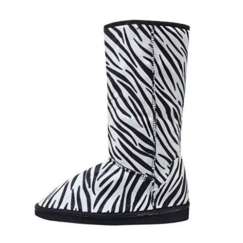 Guilty Heart | Womens Warm Winter Boots Boot, Zebra Suede, 7 B(M) US