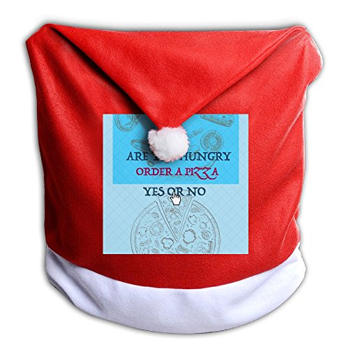 Christmas Seat Cover Are You Hungry Order A Pizza Yes No Cute Back Covers For Christmas Dinner Seats Decor 1 Pcs Per Set 50x60CM - Village Menu Hut