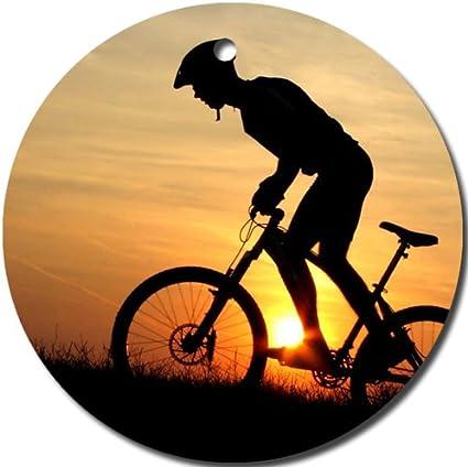 MYDply Bicicleta de montaña Adorno Redondo Porcelana Navidad ...