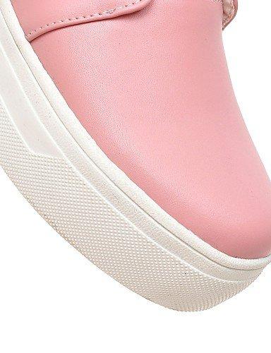 Punta Deporte Mujer Redonda Cn39 Uk4 Casual Zapatos Mocasines Cn37 us6 Bajo Blanco Negro Eu37 De Zq Gyht Uk6 7 Sintético us8 5 Eu39 5 Pink White 5 Rosa Tacón Creepers 8Pqt0Rxw
