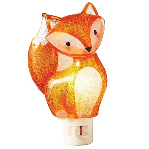 Sitting Woodland Fox Orange 3.5 x 6 Inch Acrylic Decorative Plug-In Wall Night Light (Bedrooms Themed Dog)