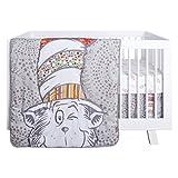 Trend Lab Dr. Seuss Peek-a-Boo Cat in The Hat 4Piece Crib Bedding Set