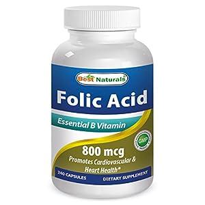 Best Naturals Folic Acid 800 mcg 240 Capsules