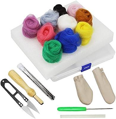 Homgaty - Kit de iniciación de fieltro de aguja, herramientas de ...