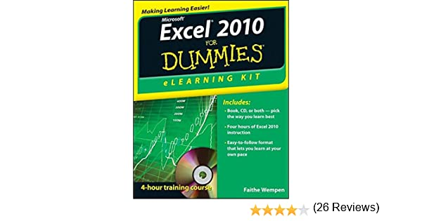 Amazon.com: Excel 2010 eLearning Kit For Dummies (9781118110799 ...