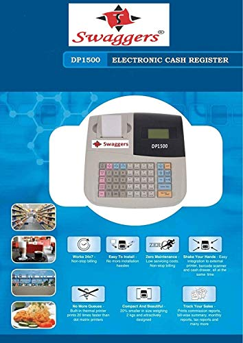 swaggers Pixel Dp 1500 Currency Register/Billing Machine/6000 Item Capacity 3
