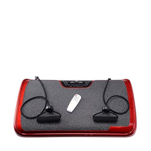 VibroSlim Tone Vibration Platform Fitness Machine, Oscillating Vibration Trainer + Free Workout DVD, Wall Chart & Resistance Bands (Red) by VibroSlim (Image #3)