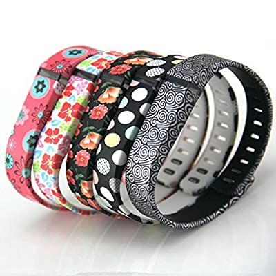 2015 Latest Band Set For Fitbit Flex,Small Replacement bands Set, Newest Layout, Water Transfer Printing Set With Metal Clasps for Fitbit Flex Activity Tracker/ Wireless Activity+Sleep Wristband/ Sport Bracelet/ Sport Armband